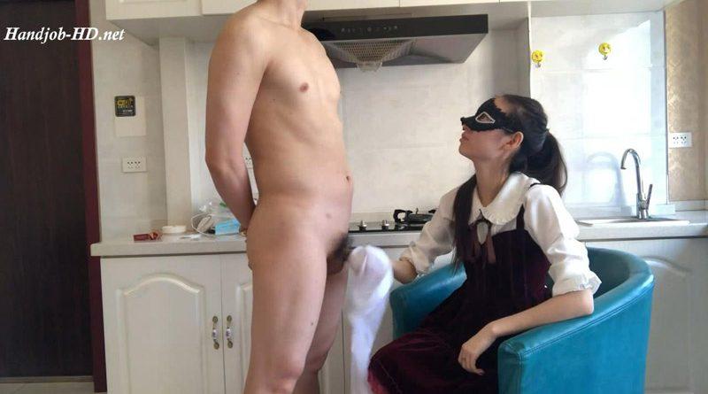 White nylon handjob cum in shoe – Shishi domination