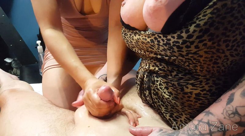 POV 2-Girl Oily Handjob! Full Video – AmaraZane