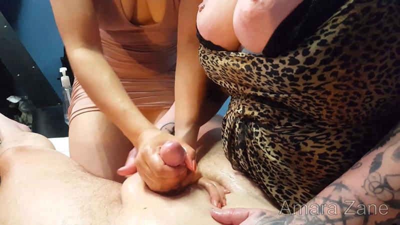 POV 2-Girl Oily Handjob! Full Video – AmaraZane