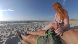 Big Tits Ginger Ruined Public Beach Cum – GingerAle23