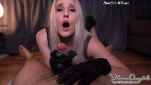 Sexiest Leather gloves Sensual Handjob – Diane Chrystall
