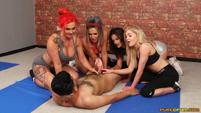 Yoga Perv – Pure CFNM – Lacey Taste, Roxi Keogh, Scarlett Rose, Valentina Cruz