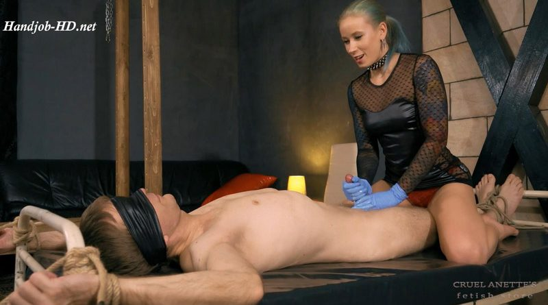 Yoghurt on his cock – Cruel Anettes Fetish Store