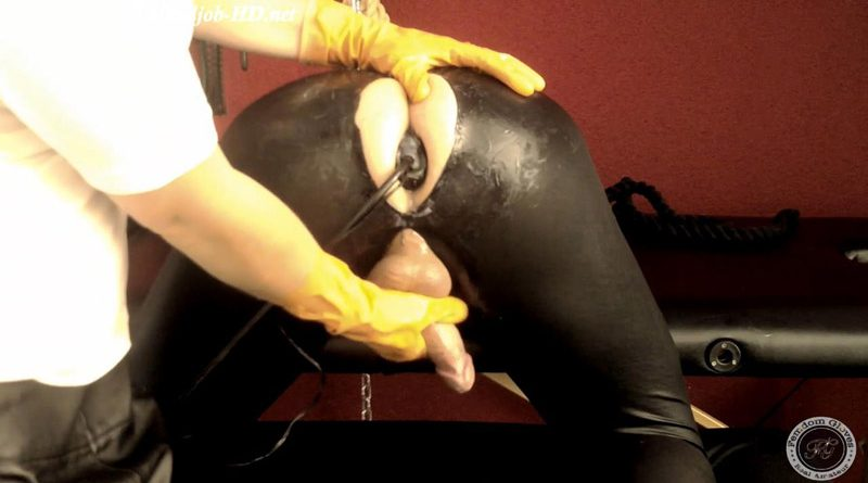 You will love my plugs with orange rubber gloves – Complete (View 2) – Femdom Gloves