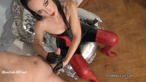 Milked Leather Slave – Kinky Leather Clips