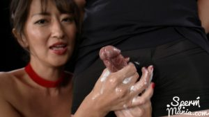 Rei Hoshino's Sloppy Seconds Group Handjob – Sperm Mania