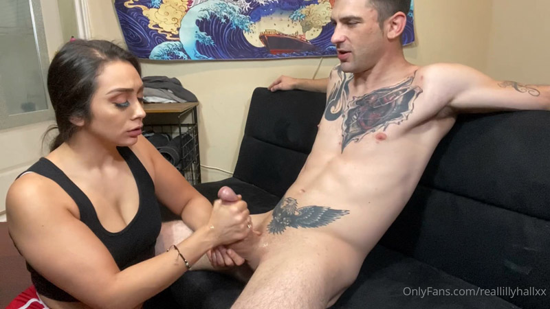 Hand work to cum shot – Lilly Hall