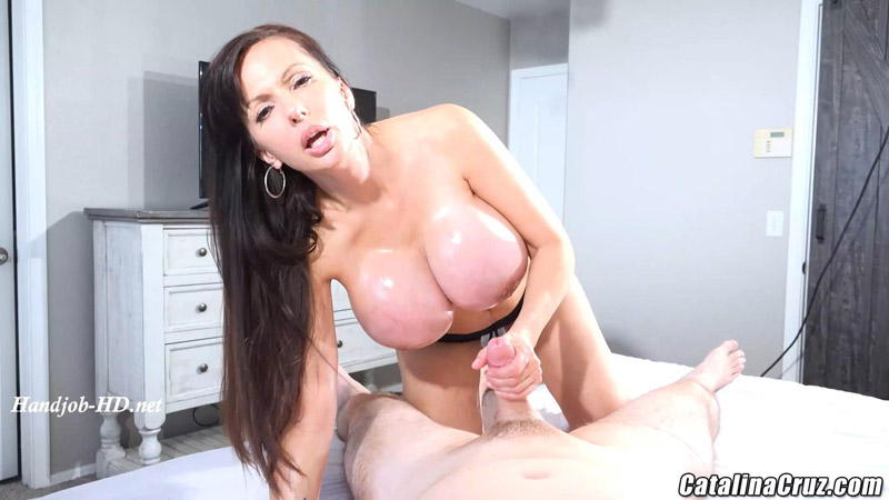 New Tits Holiday Handjob – Catalina Cruz