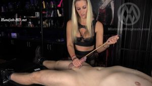 Brutal cock caning & urethral insertion orgasm from Nikki Whiplash WL1521 – Mistress Nikki Whiplash