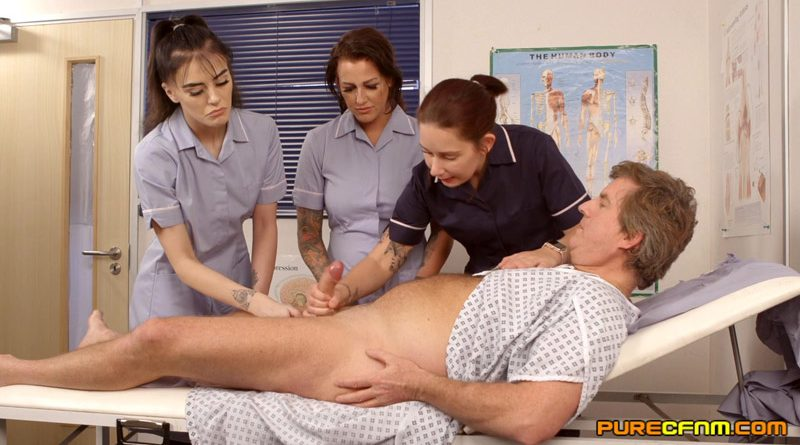 Enlargement Clinic – Pure CFNM – Belle O'Hara, Jordanna Foxx, Shay London