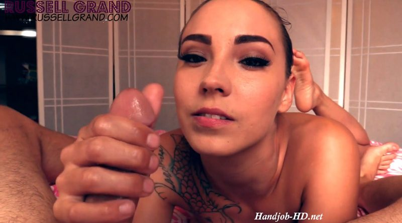 Sasha Foxxx – Naked Barefoot Double Cumshot Edging HandJob POV – Russell Grand