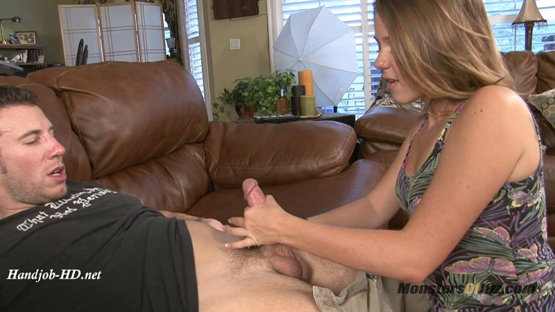 Cute Teen Gives Step Brother a Sympathy Blowjob - Monsters Of Jizz