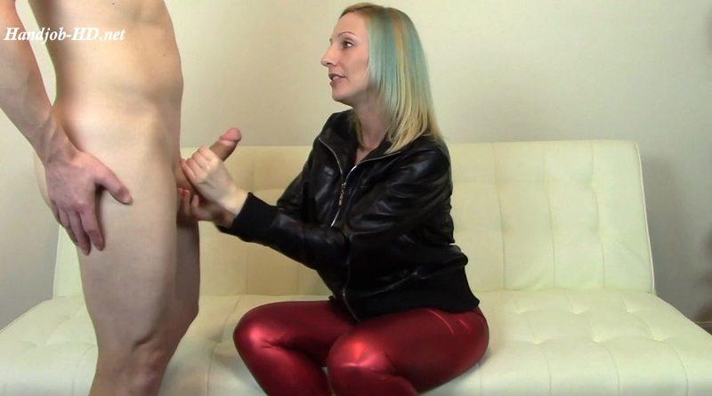 Leather Jacket CFNM Blowjob Cum on Ass – Brittany Lynn