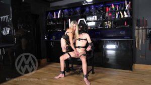 Bound slave's edging and abandoned ruined orgasm from Nikki Whiplash WL1519 – Mistress Nikki Whiplash