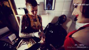 Genital inspection by Mistress Maya Sin, Mistress Melisande and Lady Perse – Maya Sin