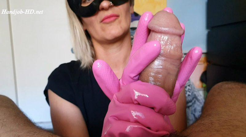 Handjob with Pink Gloves – Kinky Pinky