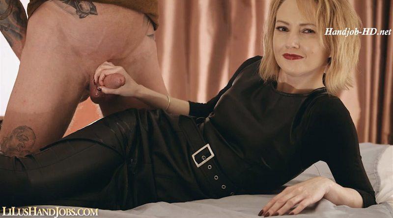 Long Leather Dress HandJob Control – I JERK OFF 100 Strangers hommme HJ