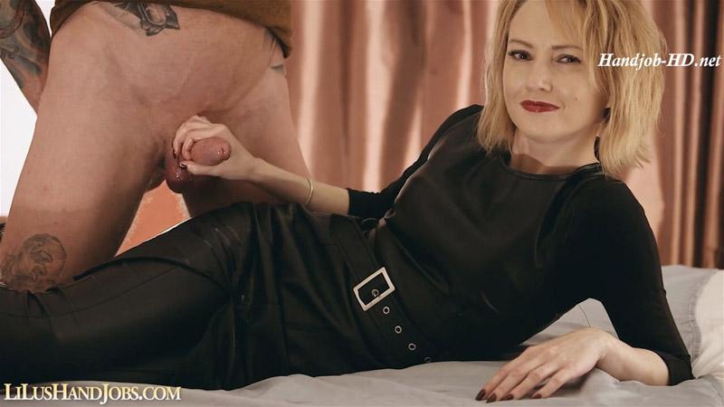 Long Leather Dress HandJob Control - I JERK OFF 100 Strangers hommme HJ