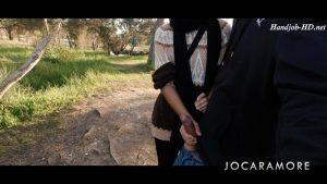 Risky outdoor handjob in local park – JocarAmore