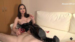 Erotic Smoking – Handjob and Teasing – Abbie Cat