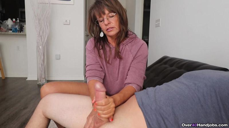 Step-mom caught me masturbating – Over 40 Handjobs – Cougar Jules