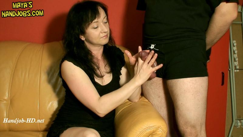 770 – Femdom handjob with 2 cumshots – Maya's Handjobs