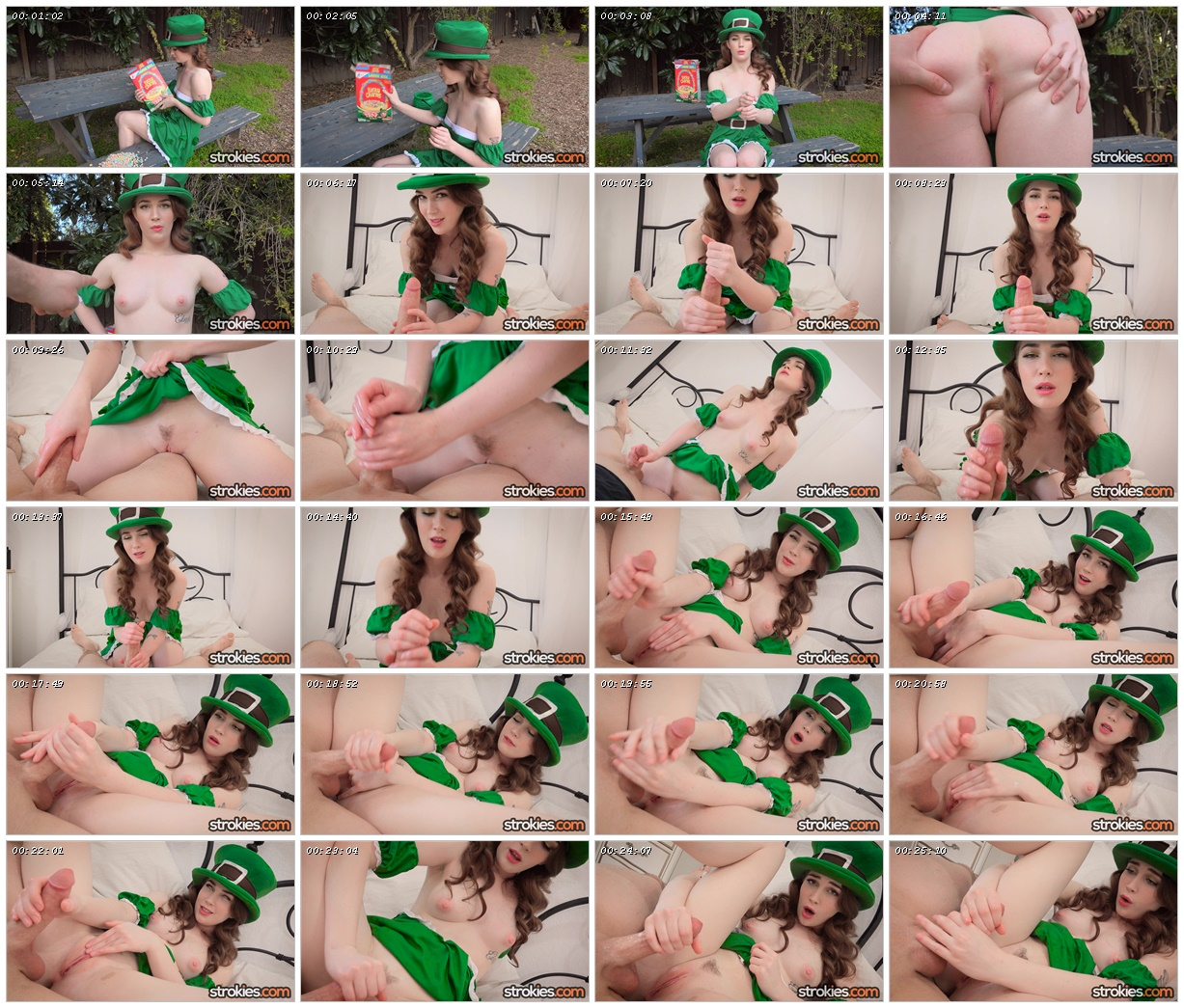 Sexy Female Leprechaun Evelyn Claire Gives a Magical Handjob – Strokies_scrlist