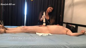 Tied, teased with electrics – made to eat your own cum – Queen Kali Rain