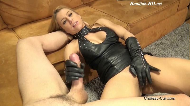 Cum On Nikki's Leather Dress - Kinky Leather Clips - Nikky Thorne