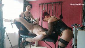 Mistress Andreea and Mistress Alexandra Double Handjob
