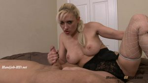 Hot Blonde Milf Teasing Handjob – Monsters Of Jizz