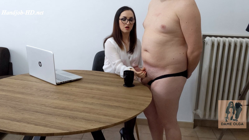 Ruined Orgasm Milking my Butler for a Dash of Cum – Dame Olga's Fetish Clips