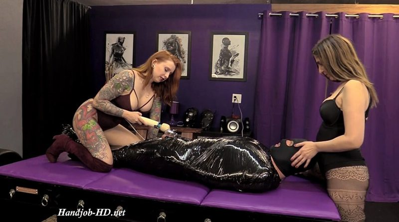Wrapped, Vibed & Facesat in Chastity (Ft Mistress Nicci) – Goddess D Femdom Clips