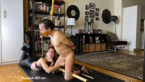 Elise delights in making Kino suffer with a harsh bamboo torment tie! – Elise Graves