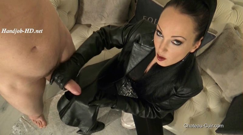 Satin And Leather Coat Milking – Kinky Leather Clips
