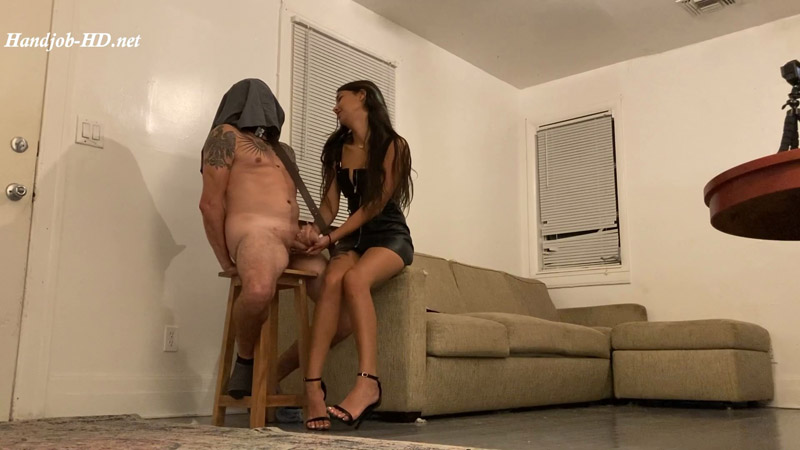 Slave tied up, given a handjob by Lucy – FertilityFetish